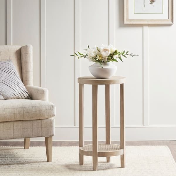 Shop Martha Stewart Reclaimed Wheat Round Accent Table ...