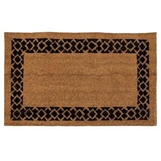 Natural Coir Doormat Indoor Outdoor Mats Welcome Geometric Easy Clean Anti-Slip