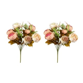 Link to 2 Pack Artificial Flowers, Fake Peonies Flower Bouquet for Wedding Parties Décor Similar Items in Decorative Accessories
