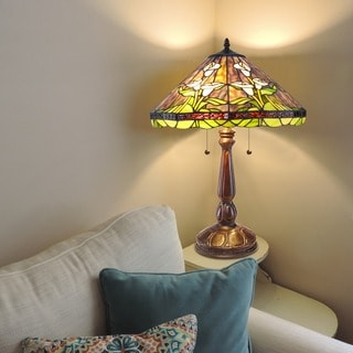 Tiffany-style Calla Lilly Table Lamp