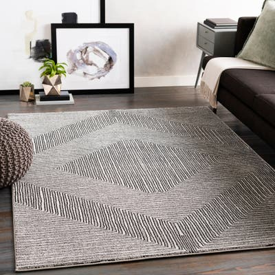 Synthetic Mid Century Modern Rugs