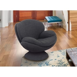 Link to NewRidge Home Swivel Scoop Chair Grey Similar Items in Accent Chairs