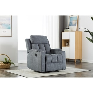 Ottomanson Cozy Comfortable Cushioned Recliner with Cup Holder