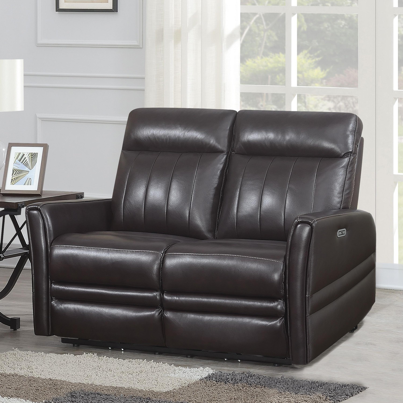 Wondrous Colfax Power Reclining Top Grain Leather Love Seat By Greyson Living Creativecarmelina Interior Chair Design Creativecarmelinacom