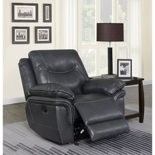 Irrigone Faux Leather Recliner by Greyson Living