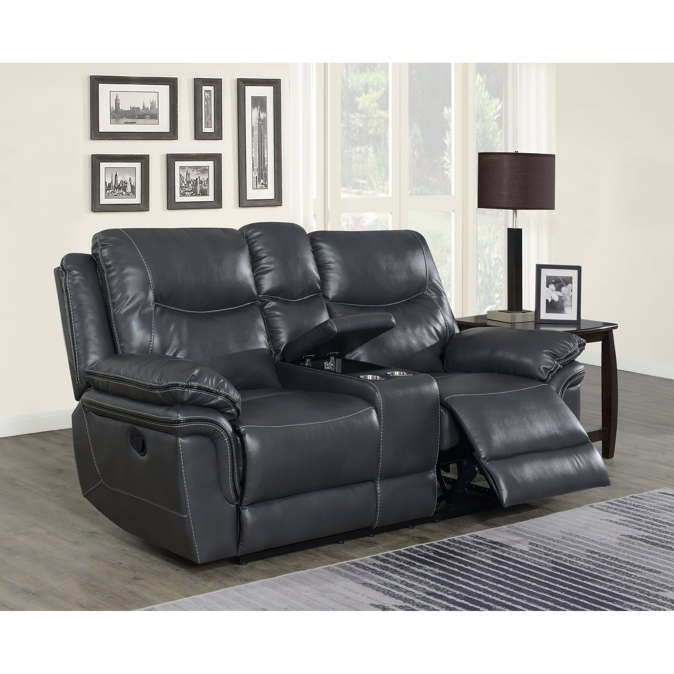 Astounding Irrigone Faux Leather Reclining Loveseat With Storage By Greyson Living Machost Co Dining Chair Design Ideas Machostcouk