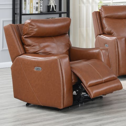 Newport Power Leather Recliner by Greyson Living