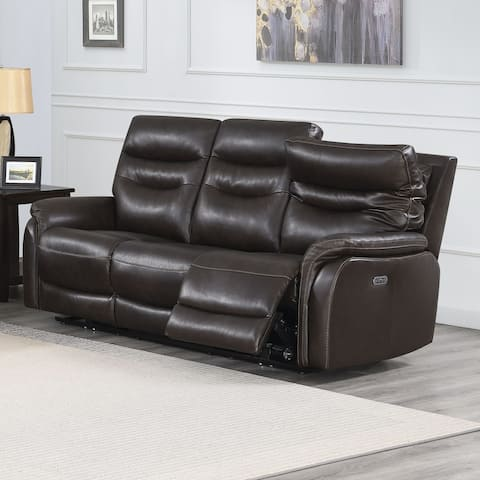 Ferndale Power Reclining Top Grain Leather Sofa by Greyson Living