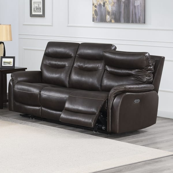 Stupendous Shop Ferndale Power Reclining Top Grain Leather Sofa By Andrewgaddart Wooden Chair Designs For Living Room Andrewgaddartcom