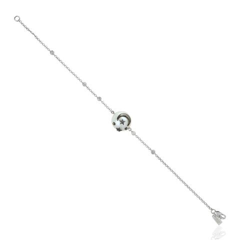 925 Silver Diamond Star Pearl South Sea Fixed and Flexible Bracelet Pearl Jewelry with Jewelry Box