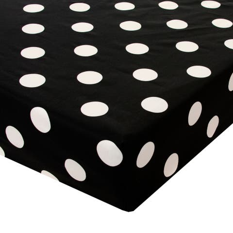 Apollo Fitted Sheet (Black and White Dot)
