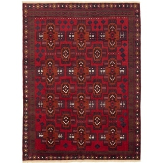 eCarpetGallery  Hand-knotted Teimani Red  Rug - 6'7 x 8'9