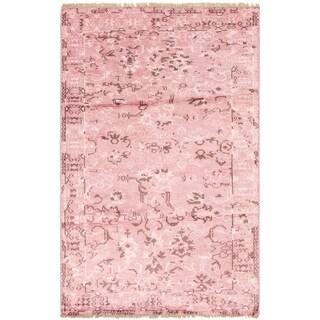 eCarpetGallery  Hand-knotted Jules Ushak Pink  Rug - 5'2 x 8'1