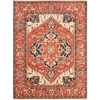 eCarpetGallery  Hand-knotted Serapi Heritage Dark Copper Wool Rug - 8'9 x 11'9