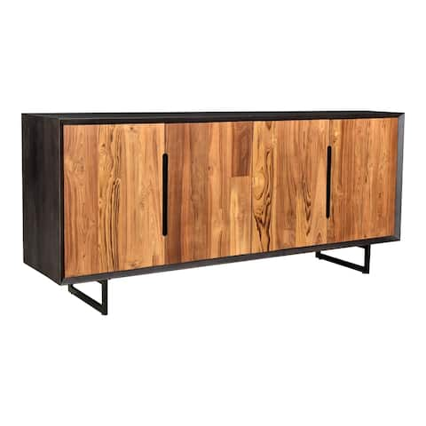Aurelle Home Vidia Two-toned Reclaimed Teak Modern Sideboard