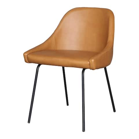 Aurelle Home Fauz Leather Upholstered Modern Dining Chair
