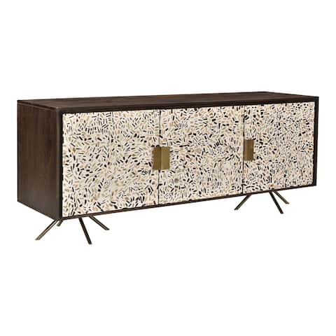 Aurelle Home Dark Brown Chic Sideboard