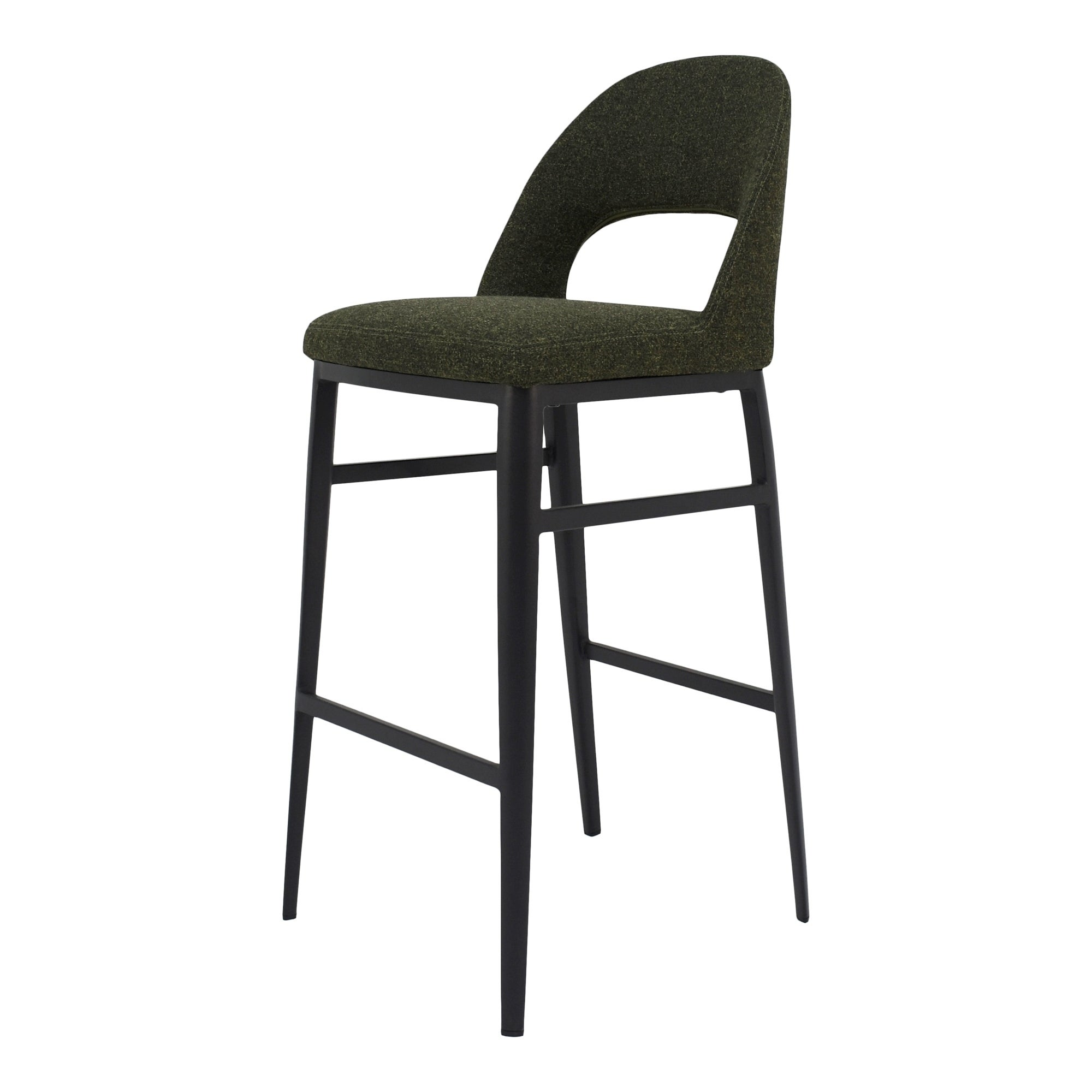 Round Folding Padded Stool Office Kitchen Breakfast Stools Metal Frame Black