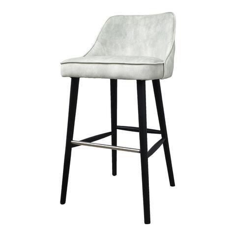 Aurelle Home Harper Velvet Upholstered Mid-Century Modern Bar stool