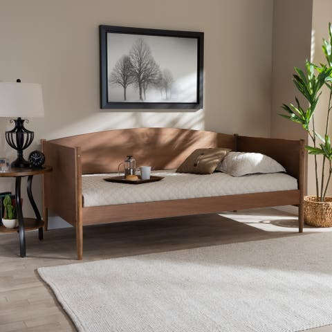 Veles Mid-Century Modern Wood Daybed