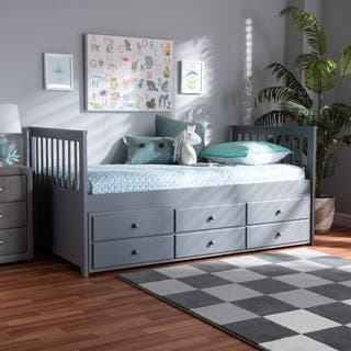 Trine Classic and Traditional Daybed with Trundle
