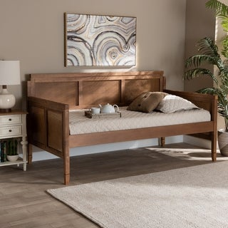 Toveli Vintage French Inspired Wood and Synthetic Rattan Daybed