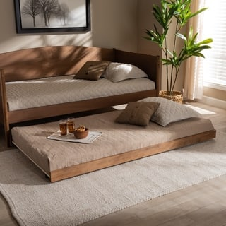 Veles Modern and Contemporary Trundle Bed