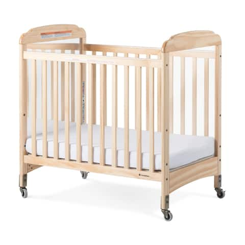 Next Gen Serenity Fixed-Side Compact Mirror Crib - Natural