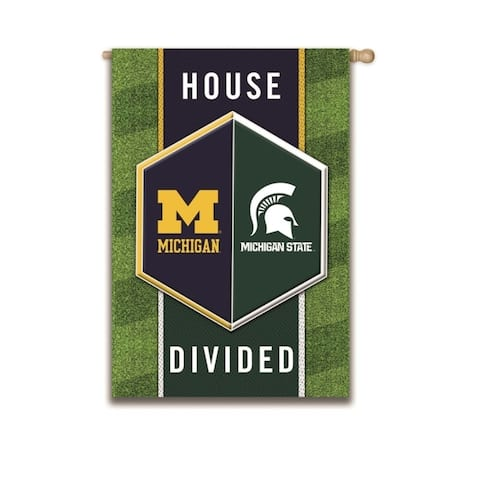 "NCAA 28-inch x 44-inch ""House Divided"" Embossed Suede House Flag"