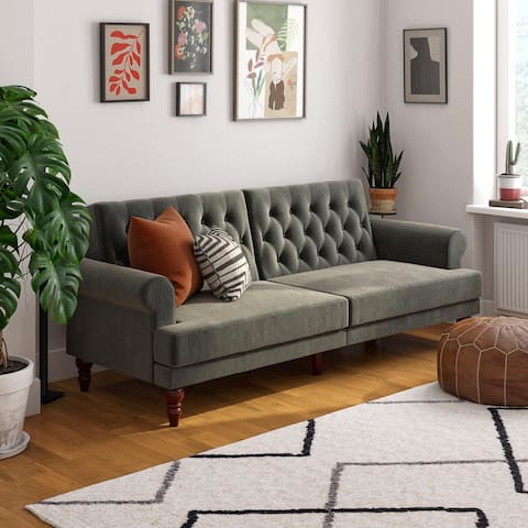 Novogratz Upholstered Cassidy Futon Convertible Couch