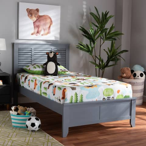 Adela Modern and Contemporary Wood Platform Bed
