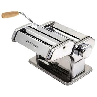 Ovente Pasta Maker, 7 Settings, Countertop Clamp, Silver (PA515S)