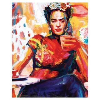 Frida Coffee Break by Willowbrook Fine Art Canvas Art Print