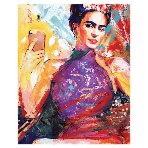 Frida Selfie by Willowbrook Fine Art Canvas Art Print