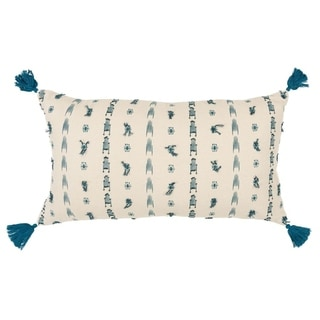 Rizzy Home Abstract Filled Pillow