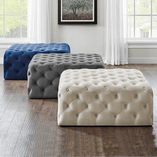 Link to Beverly Square Tufted Ottoman by Greyson Living Similar Items in Living Room Furniture