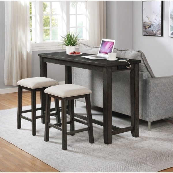 Best Quality Furniture Computer Desk with USB Ports and 2 Stools