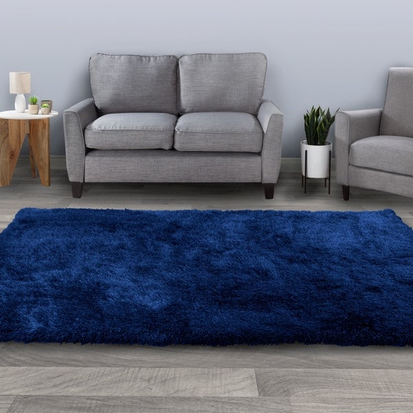 Windsor Home Shag Area Rug- Plush Throw Carpet- Cozy Modern Design- Solid Color Floor Covering. Opens flyout.