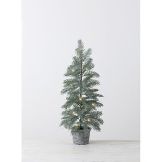 """Artificial Lighted Blue Spruce Tree 30"""" - 14""""L x 14""""W x 30""""H"""