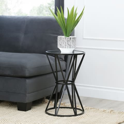 Abbyson Dunes Mirrored End Table