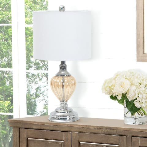 Abbyson Darby Glass Table Lamp