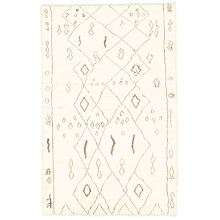 eCarpetGallery Hand-knotted Marrakech Cream Rug - 5'1 x 7'9