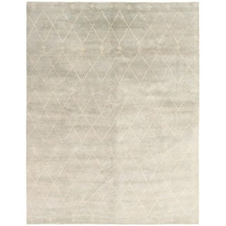 eCarpetGallery Hand-knotted Tangier Light Grey Wool Rug - 9'2 x 12'0