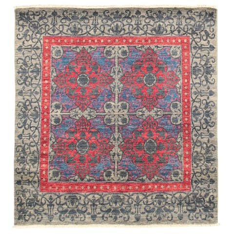 eCarpetGallery Hand-knotted Signature Collection Grey Rug - 5'1 x 5'3