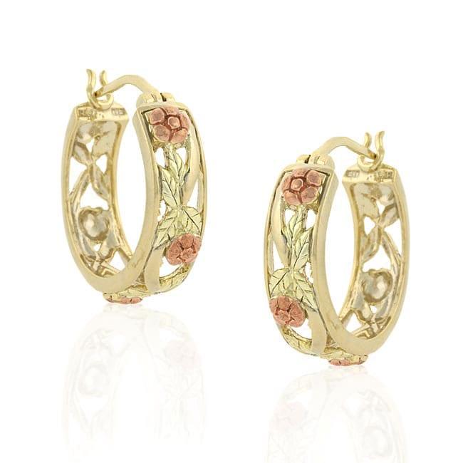 Mondevio Goldover Sterling Silver Hoop Earrings