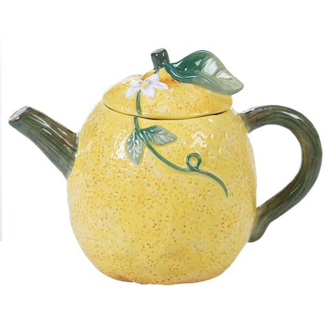 Certified International Citron 3-D Lemon Teapot