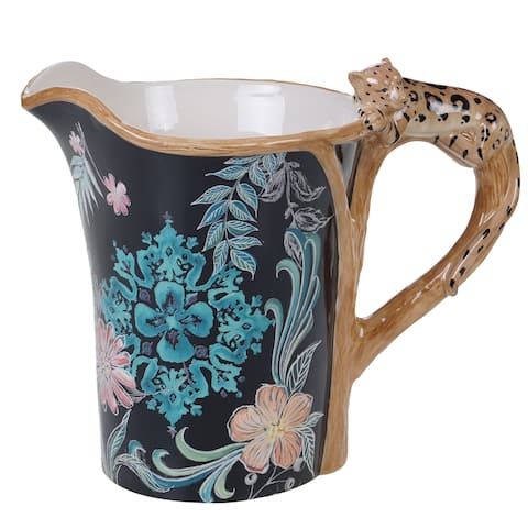 Certified International Exotic Jungle Pitcher with 3-D Handle