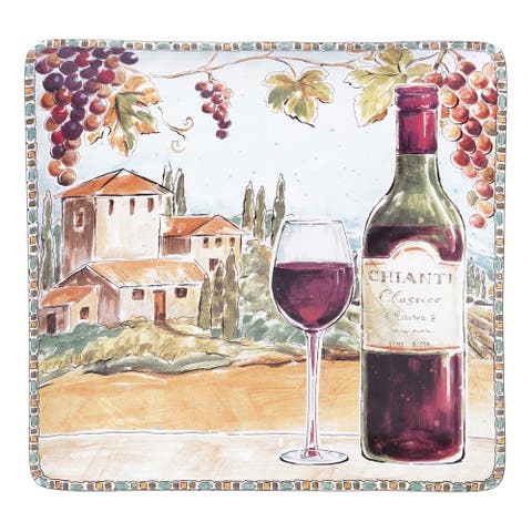 Certified International Tuscan Breeze Square Platter