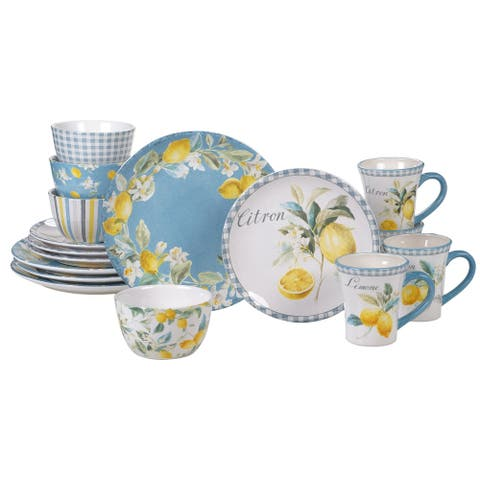 Certified International Citron 16-piece Dinnerware Set, Service for 4
