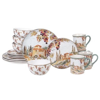 Link to Certified International Tuscan Breeze 16-piece Dinnerware Set Similar Items in Dinnerware